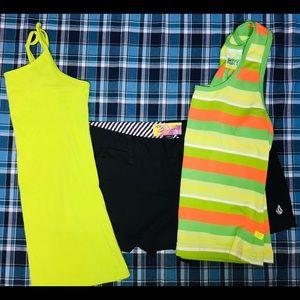Volcom Shorts, Plus a Roxy & Nollie Tank Top